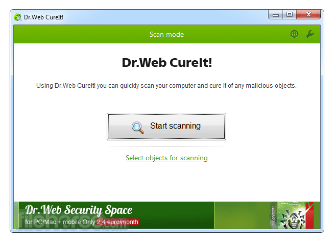Dr.Web CureIt! 11.1 Captura de Pantalla 1