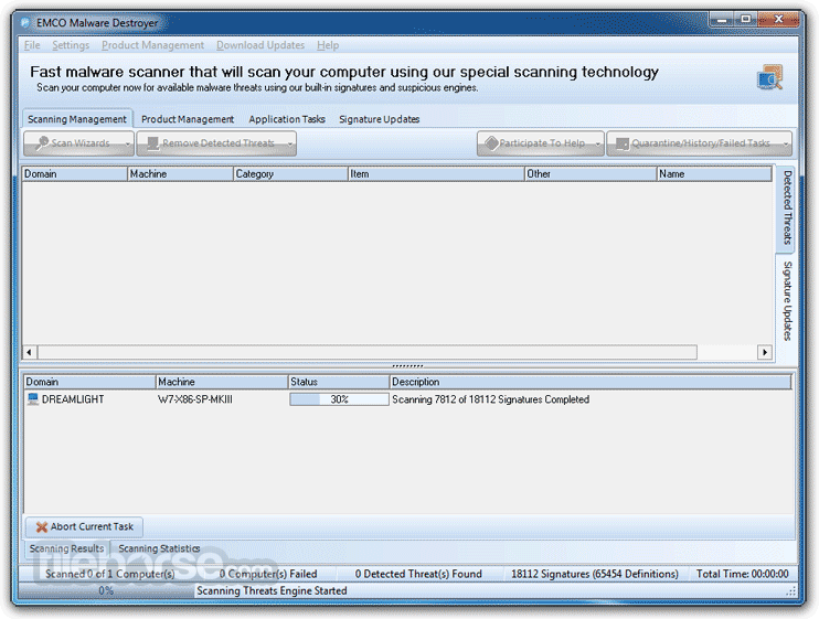 EMCO Malware Destroyer 8.2.25.1164 Screenshot 1