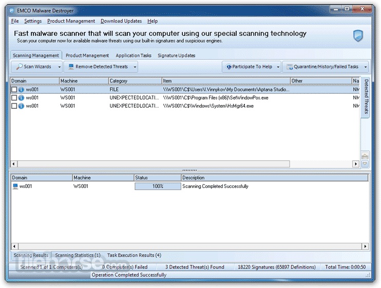 EMCO Malware Destroyer 8.2.25.1164 Screenshot 2