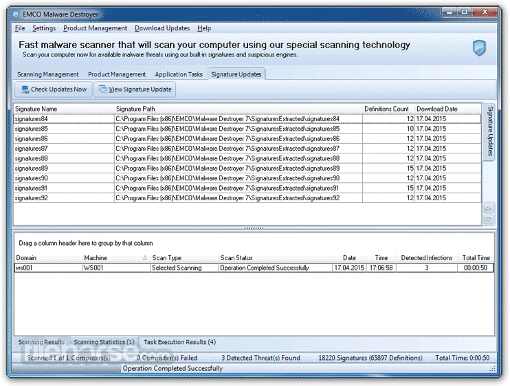 EMCO Malware Destroyer 8.2.25.1164 Screenshot 3
