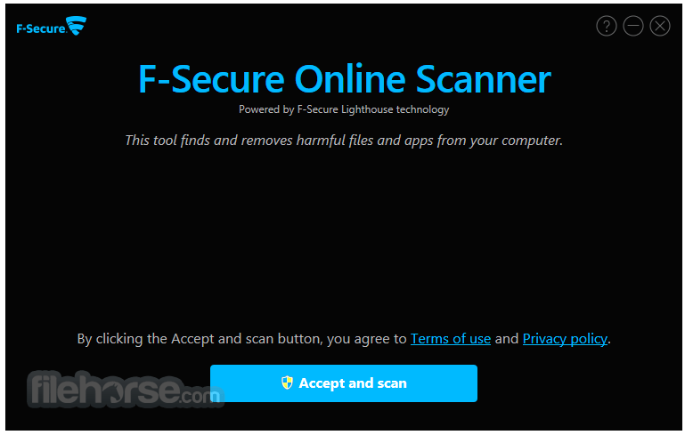 F-Secure Online Scanner 8.0.136.65 Captura de Pantalla 1