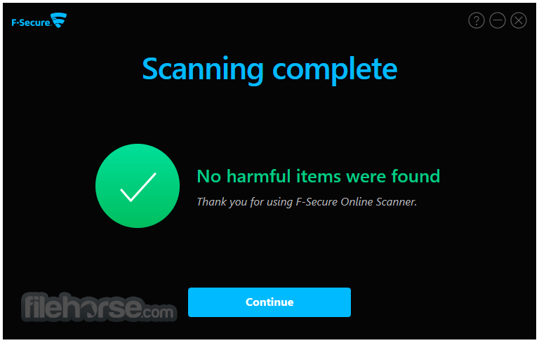 F-Secure Online Scanner 8.0.136.65 Captura de Pantalla 4
