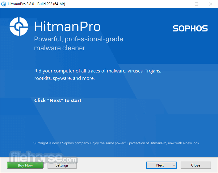 HitmanPro 3.8.00 Build 292 (32-bit) Captura de Pantalla 1