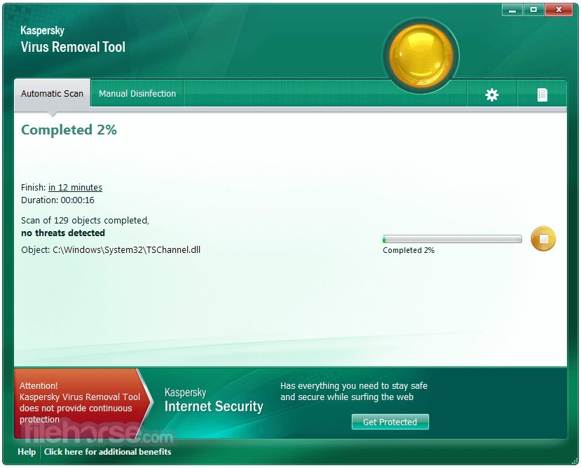 Kaspersky Virus Removal Tool 2017 Screenshot 2