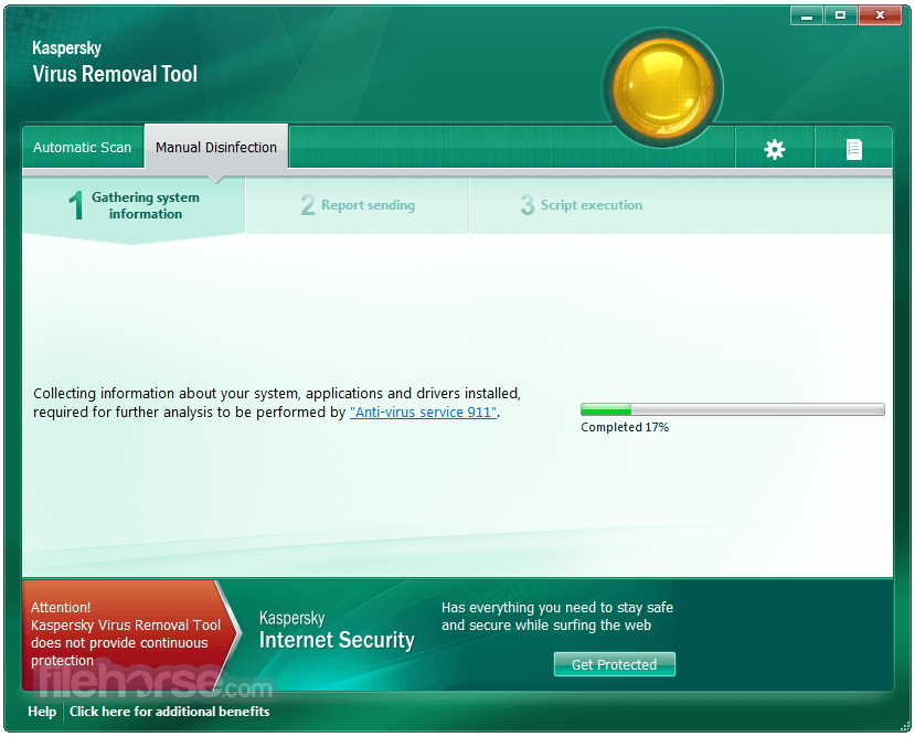 Kaspersky Virus Removal Tool 2017 Screenshot 3