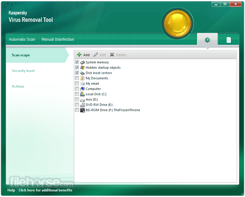 Kaspersky Virus Removal Tool 2017 Screenshot 4