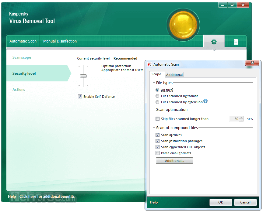 Kaspersky Virus Removal Tool 2017 Screenshot 5