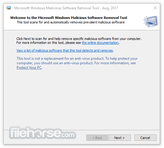Microsoft Malicious Software Removal Tool 5.61 (32-bit) Screenshot 1