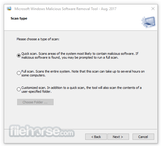 Microsoft Malicious Software Removal Tool 5.56 (64-bit) Screenshot 2