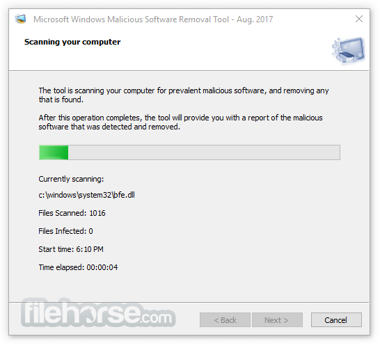 Microsoft Malicious Software Removal Tool 5.61 (32-bit) Screenshot 3