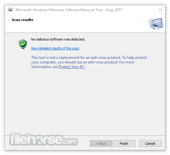 Microsoft Malicious Software Removal Tool 5.56 (64-bit) Screenshot 4