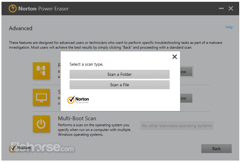 Norton Power Eraser 5.3.0.24 Captura de Pantalla 4