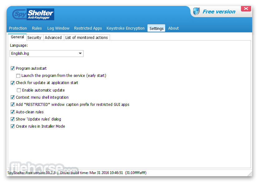 SpyShelter Anti-Keylogger Premium 11.1 Screenshot 5