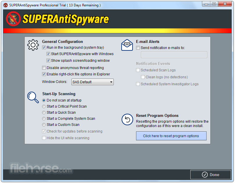 SuperAntiSpyware 6.0.1258 Captura de Pantalla 5