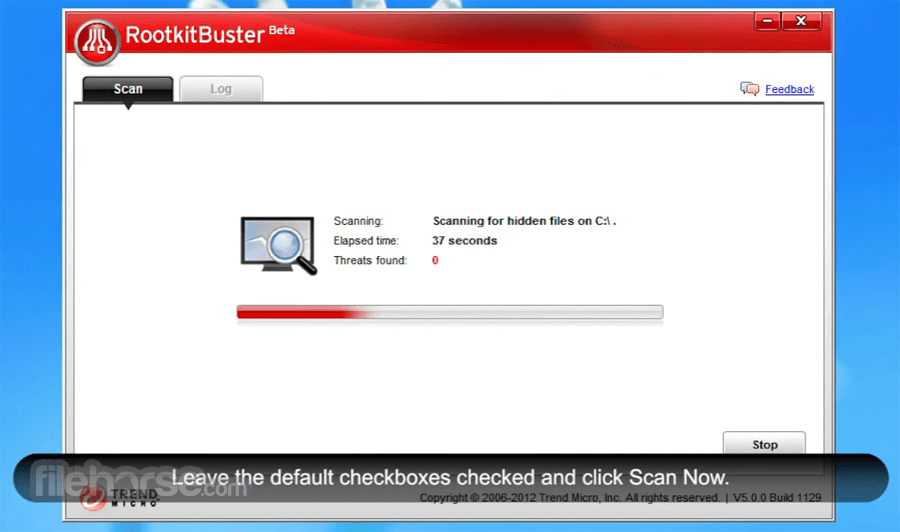 Trend Micro RootkitBuster 5.0.0 Build 1203 Beta (64-bit) Captura de Pantalla 2