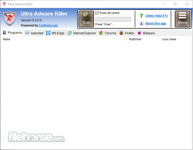 Ultra Adware Killer 7.5.1.0 Captura de Pantalla 1