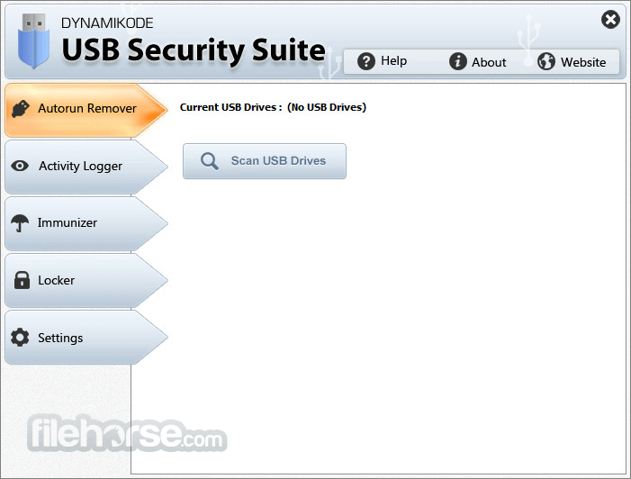 USB Security Suite 1.4.2 Captura de Pantalla 1
