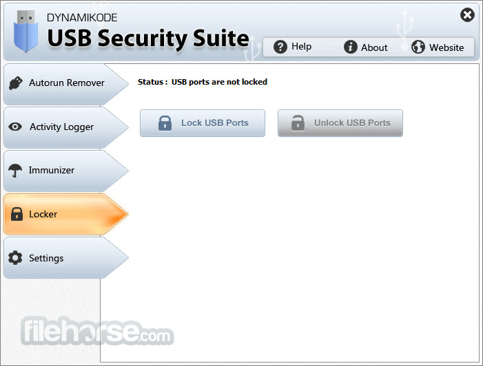 USB Security Suite 1.4.2 Captura de Pantalla 4