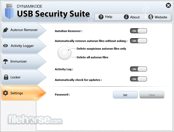 USB Security Suite 1.4.2 Captura de Pantalla 5
