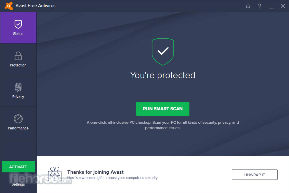 Avast Free Antivirus 11.1.2245 Screenshot 1