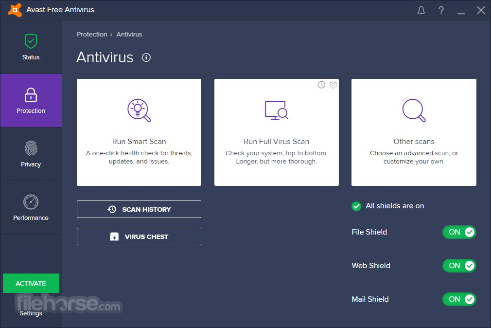 Avast Free Antivirus 20.10.5824 Screenshot 2