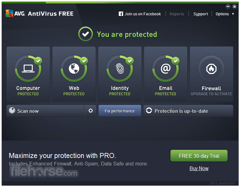 Avg antivirus free v19. 1. 3075 screenshot freeware files. Com.