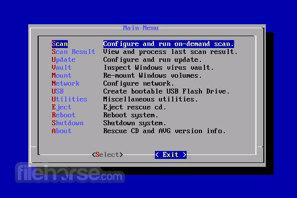 AVG Rescue CD 120.160420 Screenshot 3