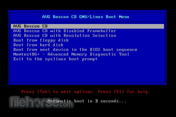 AVG Rescue CD 120.160420 Screenshot 4