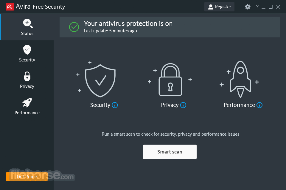 Avira Free Antivirus 15.0.36.200 Screenshot 1
