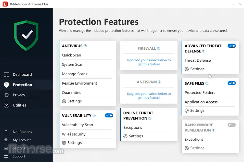 Bitdefender Antivirus Plus 2018 Build 22.0.17.205 (32-bit) Captura de Pantalla 2