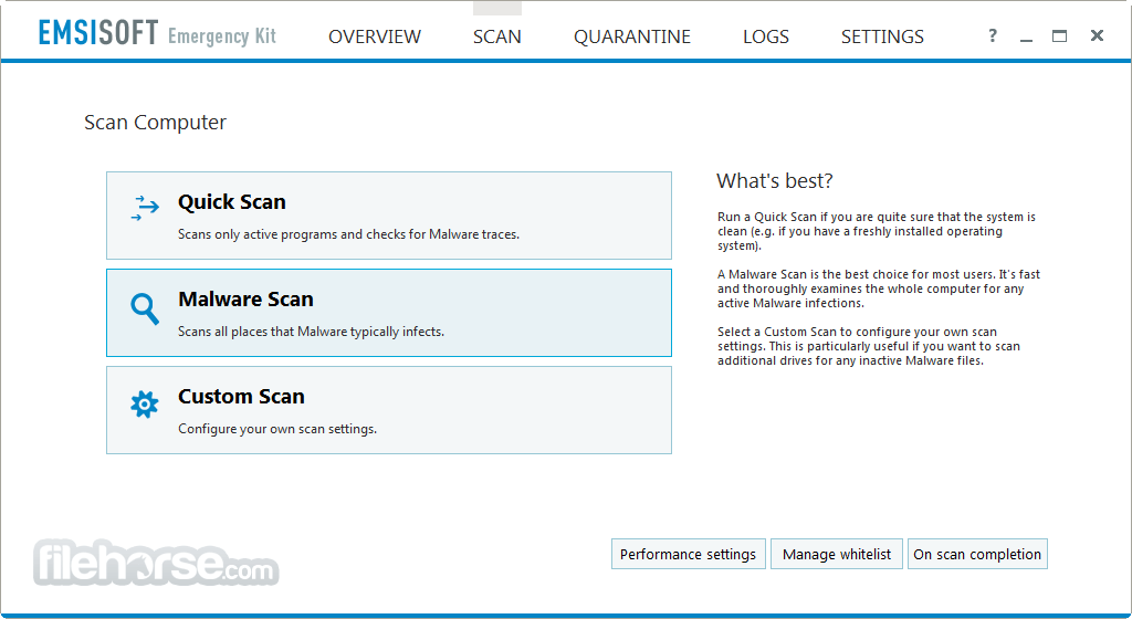 Emsisoft Emergency Kit 2021.1.0.10609 Captura de Pantalla 2