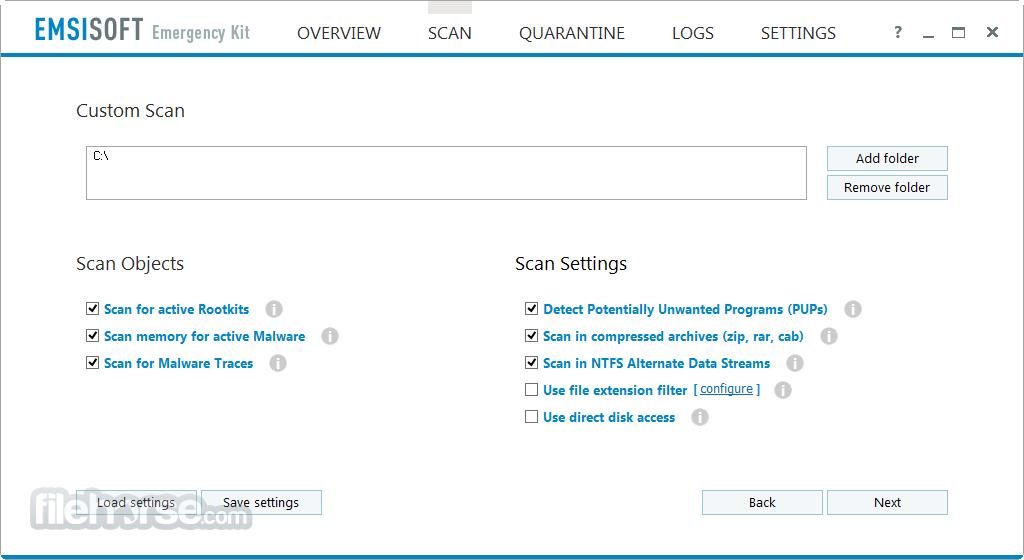 Emsisoft Emergency Kit 2018.3.1.8572 Captura de Pantalla 3