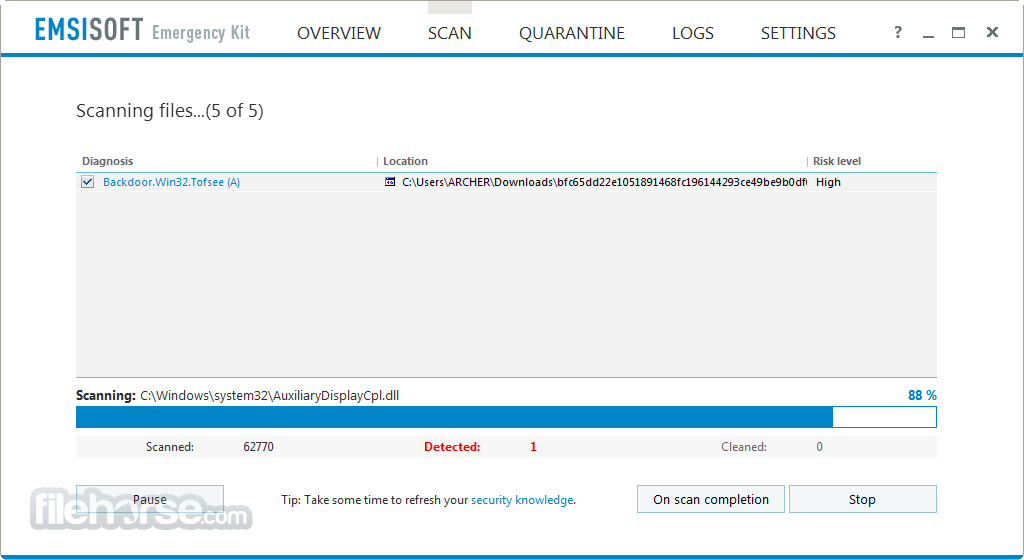 Emsisoft Emergency Kit 2018.3.1.8572 Captura de Pantalla 4