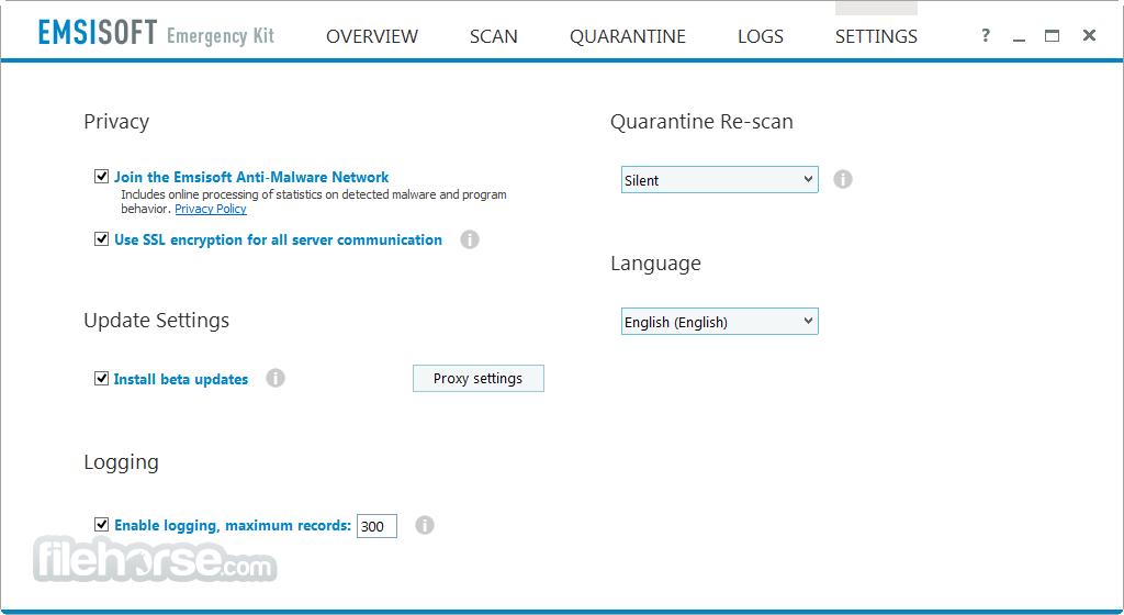 Emsisoft Emergency Kit 2017.12.0.8334 Screenshot 5
