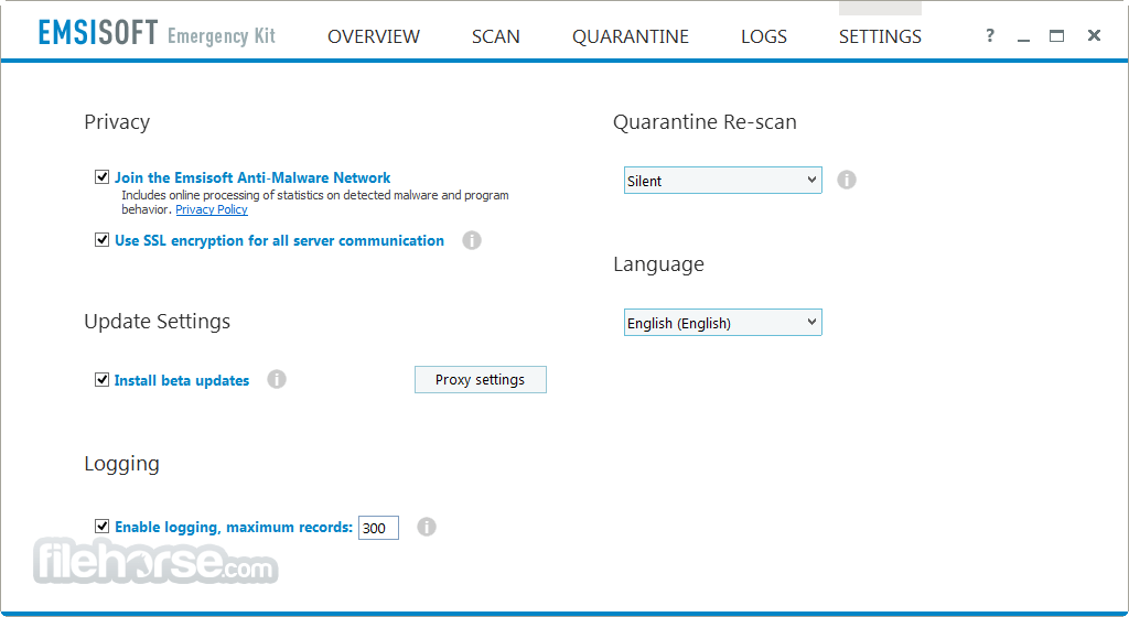 Emsisoft Emergency Kit 2021.1.0.10609 Captura de Pantalla 5