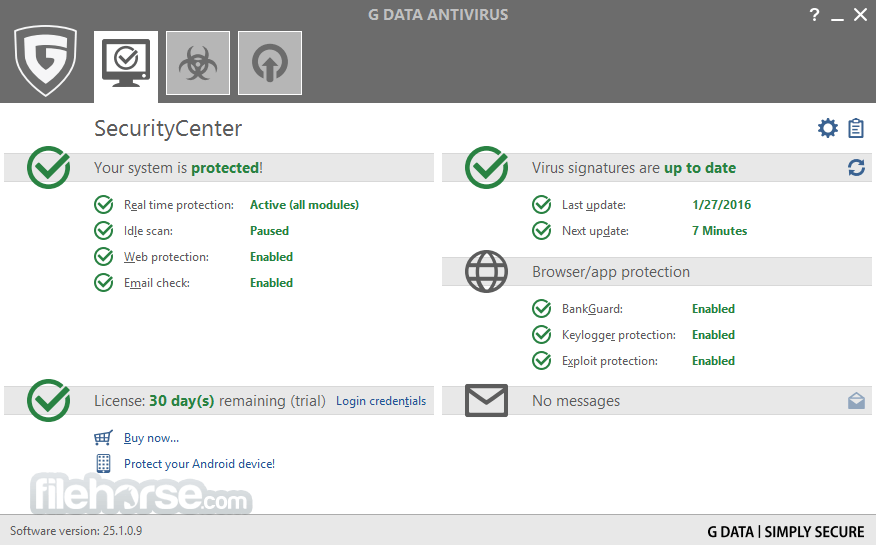 G DATA AntiVirus 25.4.0.4 Captura de Pantalla 1
