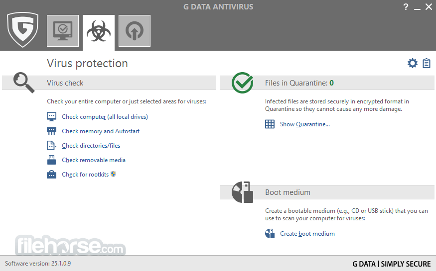 G DATA AntiVirus 25.4.0.4 Captura de Pantalla 2