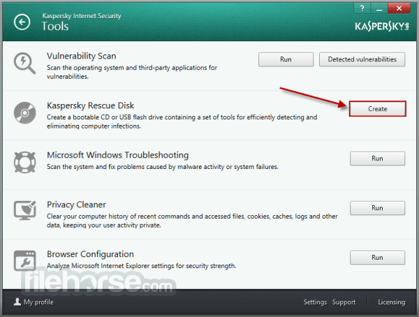 Kaspersky Rescue Disk 10.0.32.17 Captura de Pantalla 1