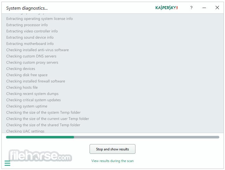 Kaspersky System Checker 1.2.0.290 Captura de Pantalla 2