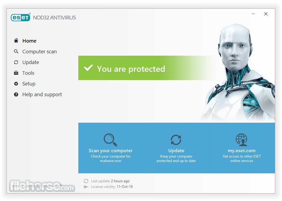 NOD32 AntiVirus 11.1.54.0 (64-bit) Captura de Pantalla 1
