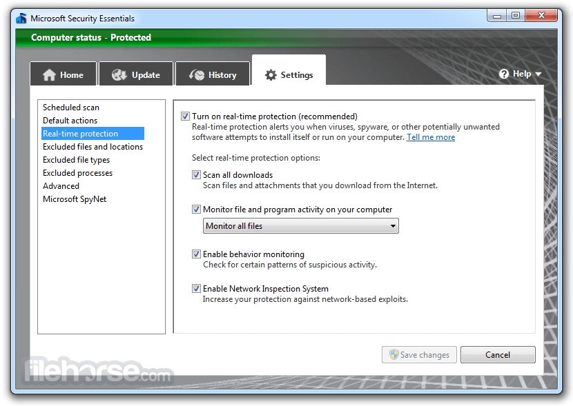 Microsoft Security Essentials 4.10.209 (32-bit) Captura de Pantalla 5