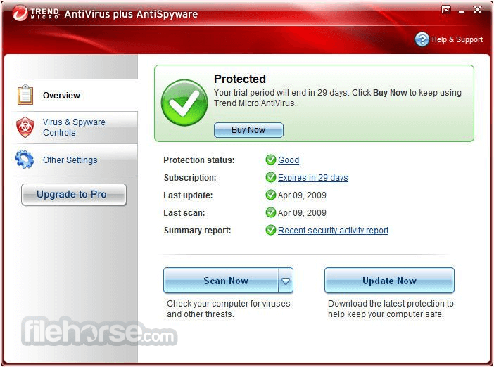 Trend Micro Antivirus+ 12.0.1153 (32-bit) Screenshot 1