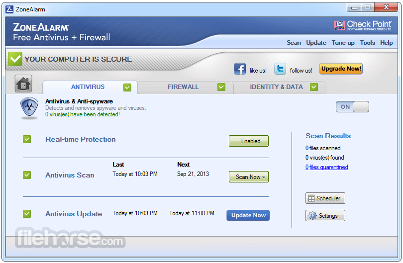 ZoneAlarm Free Antivirus + Firewall 15.8.145.18590 Screenshot 2