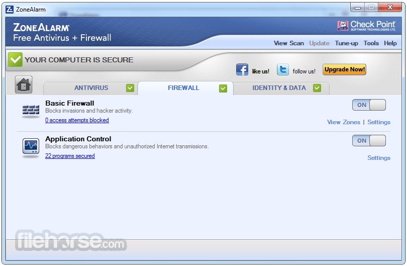 ZoneAlarm Free Antivirus + Firewall 15.8.145.18590 Screenshot 4