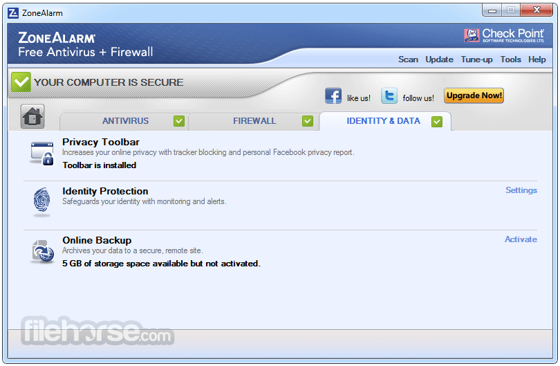 ZoneAlarm Free Antivirus + Firewall 15.8.145.18590 Screenshot 5