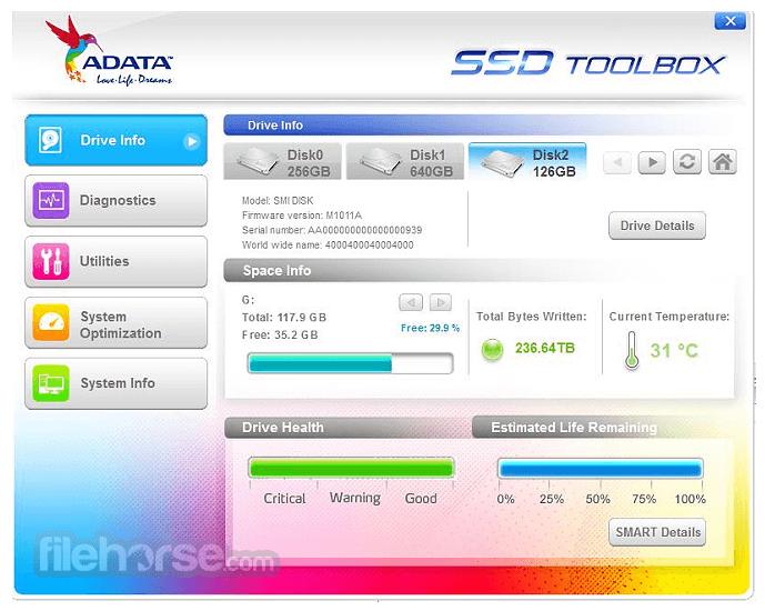 ADATA SSD ToolBox 3.0.12 Captura de Pantalla 1