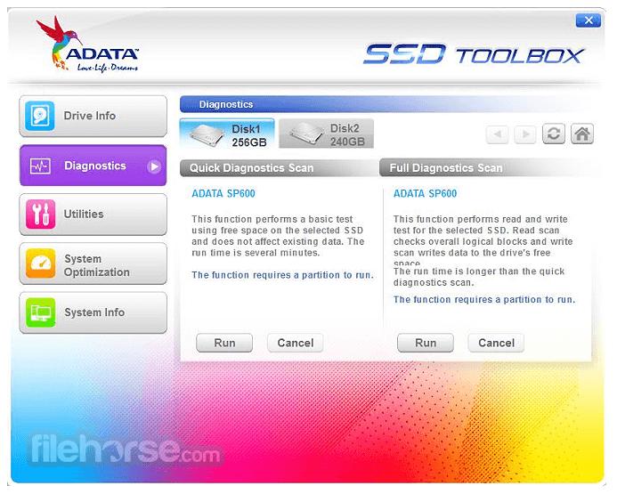 ADATA SSD ToolBox 3.0.12 Captura de Pantalla 2