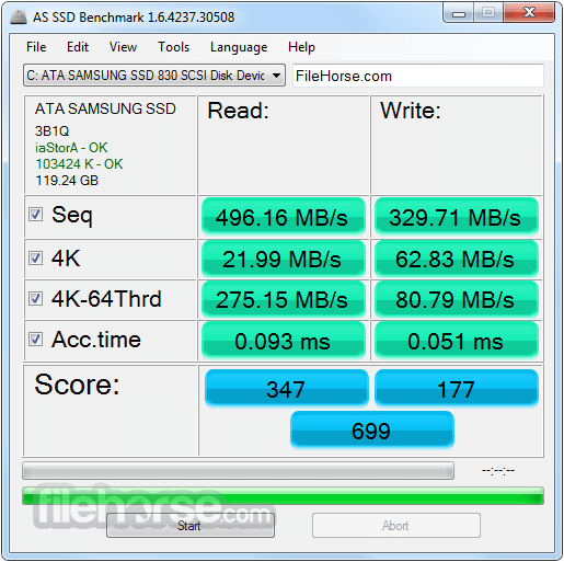 AS SSD Benchmark 2.0.7316 Screenshot 1