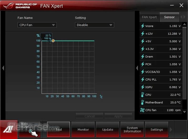 ASUS Fan Xpert 1.07.01 Screenshot 1
