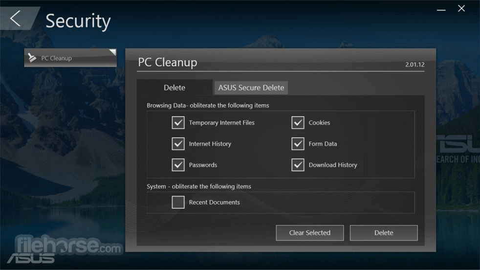 asus manager - update (application/driver/bios)
